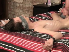 Young nude boys cock gay full length with a blindfold and so