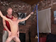 Masturbating in front of gay man and black shaved naked dude