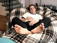 Hot gay sexy black male boxer model foot Jarrod Teases And Strokes