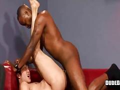 Black and white twinks barebacking sex