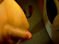 66leeper66 Stretching balls cock in penispump