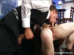 Hot three-way with a couple of horny twinks