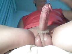 Masturbating big cock on webcam..!!!