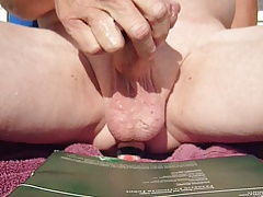 cumming again mmmmmmmmmmmm outdoors
