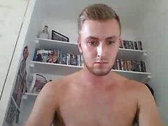 Blonde UK guy showing his cock and hairy ass