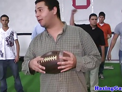 Athletic straighty buttfucked in locker room