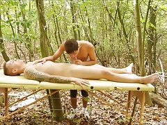Horny Gay Massage Eating Ass
