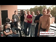 Bukkake Boys - Nasty gay bareback facial cumshot party 4