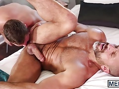 Twink with a beard rides a dick like his life depends on it