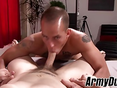 Tattooed Richard Buldger and Mathias doggystyle sex session