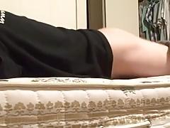 Mattress humping orgasm