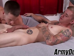 Hung homo Quentin Gainz has threesome with Ryan and Alex