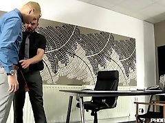 Blonde twink Deacon Hunter gets drilled by Adam Watson