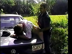 Manly hunk fucks twink&#039_s tight ass on the bonnet of his car