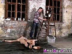 Man brown gay naked sex dick Chained to the warehouse floor and incapable